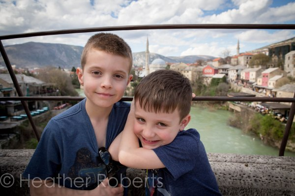 The boys on Stari Most