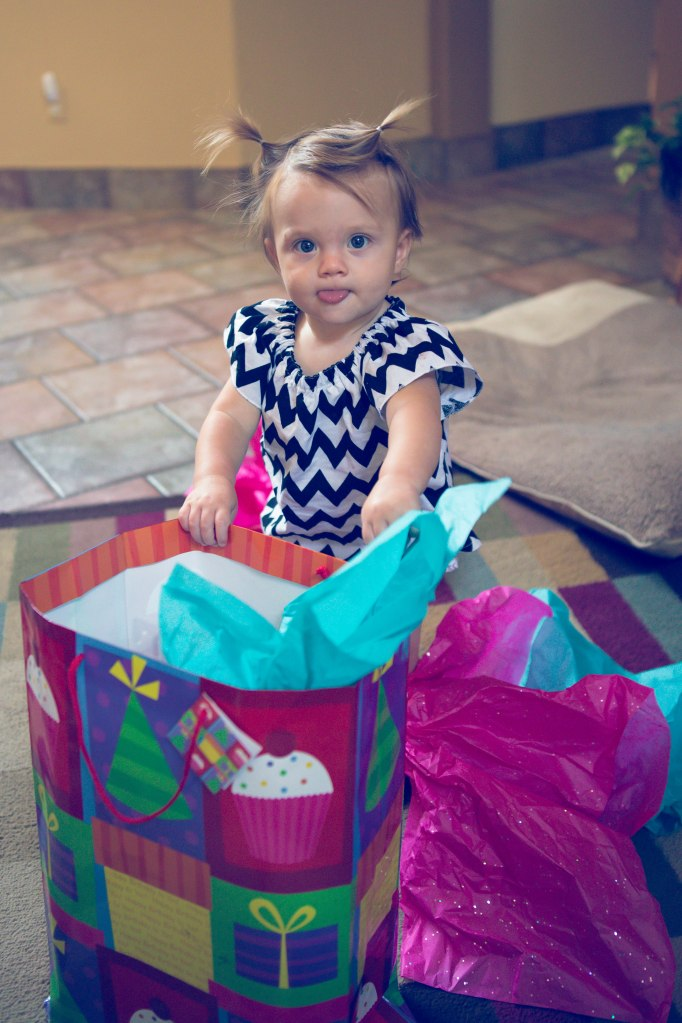 She wasn't sure what to do with the gifts.  I assured her she'd figure it out soon enough!